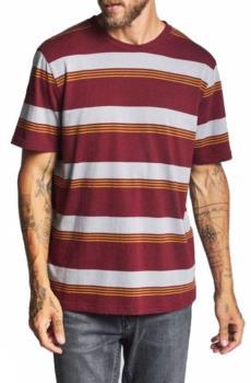 Brixton Adult Unisex Hilt Knit Short Sleeved T-Shirt, S Maroon