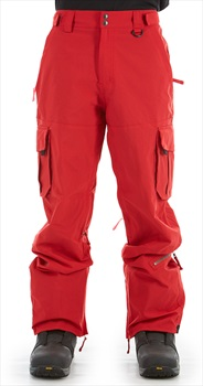 Sessions Adult Unisex Squadron Ski/Snowboard Pants, M Deep Red