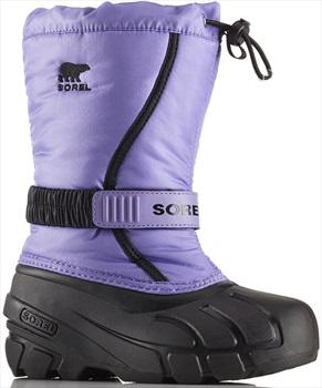 Sorel Flurry Children's Snow Boots, UK 3 Paisley Purple/Black
