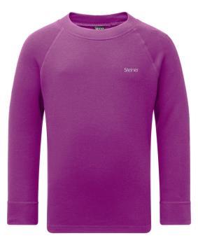 Manbi Steiner Soft-Tec Kid's Longsleeve Thermal Top 9/10Yr Purple