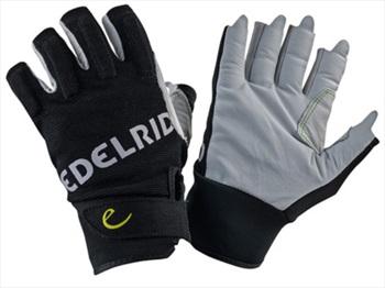 Edelrid Work Glove Open Half-Finger Climbing Gloves, L Snow