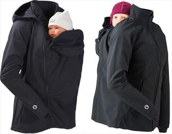 Mamalila Allrounder Softshell Babywearing Jacket, UK 12 Black