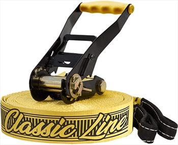 Gibbon Classic Line XL Slackline Set, 25m X 50mm Yellow