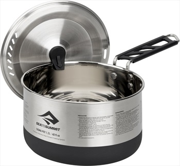 Sea to Summit Sigma Pot Stainless Steel Camping Cookware, 1.2l Stainless