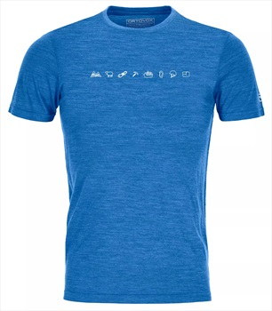 Ortovox 120 Cool Tec Icons Merino Wool T-Shirt, L Safety Blue