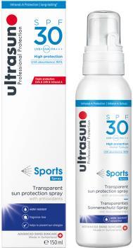 Ultrasun Sports Transparent SPF 30 Sunscreen Spray, 150ml