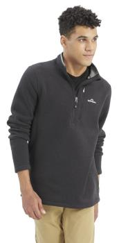 Kathmandu Aikman 1/4 Zip Fleece/Pullover, XL Black Marle