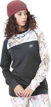 Picture Blossom Grid Women's Fleece, M Shrub/Black