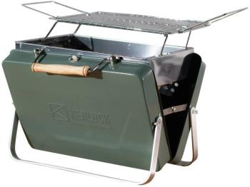 Kenluck Buddy Grill Portable Camping BBQ, Hammertone Gloss Green