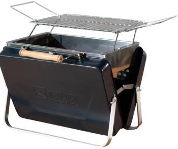 Kenluck Buddy Grill Portable Camping BBQ, Hammertone Gloss Blue