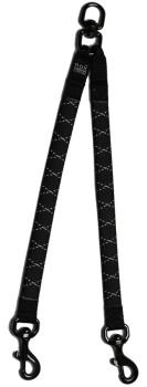 Rok Stretch Coupler No-Tangle Dog Lead Splitter, Small Black