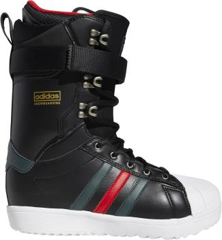Adidas Superstar ADV Snowboard Boots, UK 9.5 Black/Green/Scarlet 2021
