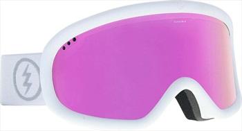 Electric Charger Brose Pink Snowboard/Ski Goggles, M/L Matte White