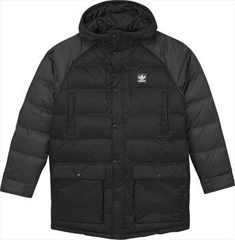 Adidas Mens Down Insulated Jacket, M Black/Utility Black/Scarlet