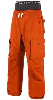 Planks Yeah Baby Ski/Snowboard Pants, L Burnt Orange