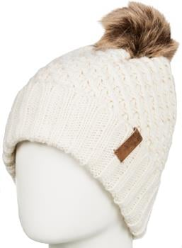 Roxy Blizzard Pom Pom Beanie Women's Bobble Knit Hat, Angora
