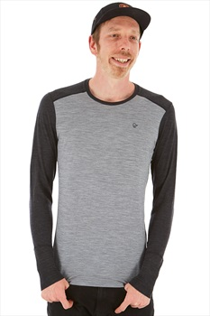 Norrona Merino Wool Round Neck L/S Base Layer S Mid Grey