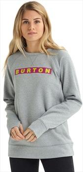 Burton Oak Crew Women's Ski/Snowboard Sweater, XL Gray Heather