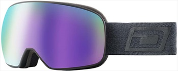 Dirty Dog Streif Purple Fusion Snowboard/Ski Goggles, M Black-Grey