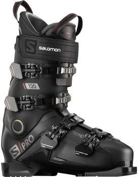 Salomon Adult Unisex S/Pro 120 Ski Boots, 28/28.5 Black/Belluga/Red 2021