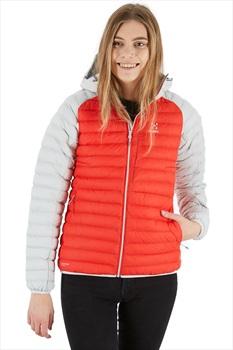 Haglofs Essens Mimic Hood Women's Insulated Jacket, XL Pop Red/Haze
