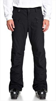 Quiksilver Mens Boundry Insulated Snowboard/Ski Pants, M Black