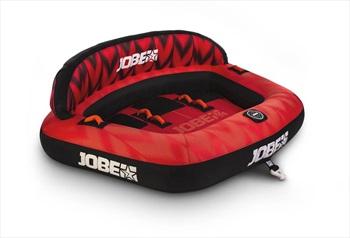 Jobe Proton Towable Inflatable Tube, 3 Rider Red Black 2021