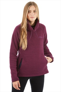 Berghaus Canvey Cowl Neck Women's Fleece Pullover, M Winter Bloom