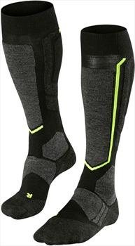 Falke SB2 Merino Wool Snowboard Socks UK 8-9 Black-Mix