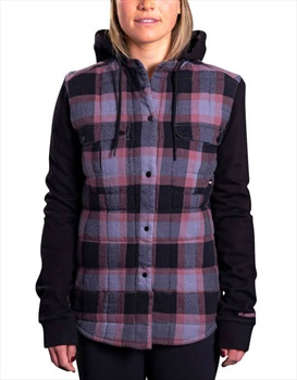 Armada Ruston Flannel Hoodie Women's Insulated Jacket, M Charcoal