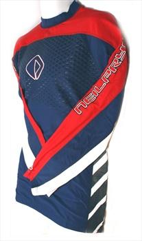 NPX 3000 Rash Vest Long Sleeve XS Red Blue