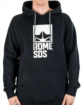 Rome Logo Ski/Snowboard Pullover Hoodie, S Black