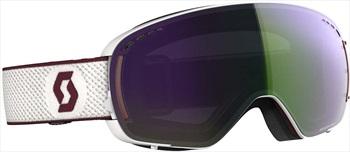 Scott LCG Compact Snowboard/Ski Goggles, S/M White/Merlot Red