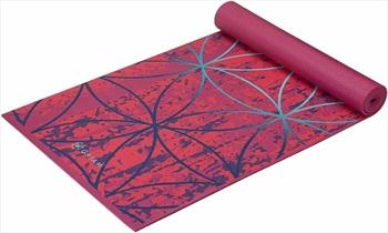 Gaiam Premium Printed Yoga/Pilates Mat, 6mm Radience