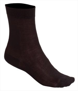 Silkbody Puresilk Mid Liner Socks, S Black