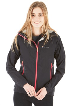 Montane Minimus Stretch Ultra Women's Waterproof Jacket, UK14 Black