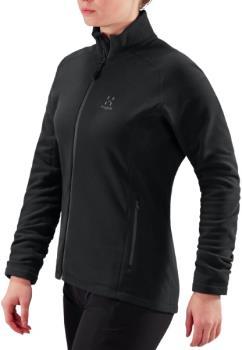 Haglofs Astro Women's Microfleece Zip Up Jacket, UK 12 True Black