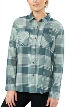 Dakine Ellis Lightweight Women's Cotton Flannel Shirt, S Balsam Green