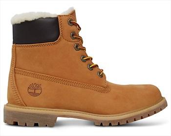 Timberland Womens 6-in Premium Shearling Winter Boots, UK 4 Wheat