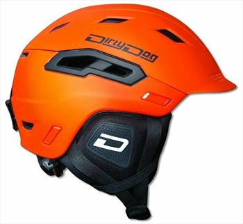Dirty Dog Crater Snowboard/Ski Helmet, M Matte Orange Black