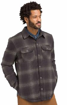 Prana Showdown Insulated Shirt Jacket, L Gravel