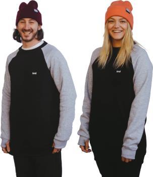 bro! Chill N'shred Ski/Snowboard Crew, S Black/Grey