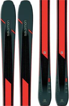 Salomon XDR 88 Ti Skis Only Skis, 186cm Black/Orange 2020