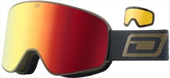 Dirty Dog Mutant Legacy Red Ski/Snowboard Goggles, L Matte Khaki