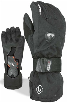 Level Fly Glove JR Kid's Snowboard/Ski Gloves, M Black