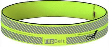 FlipBelt Reflective Running Belt, XL Neon Yellow