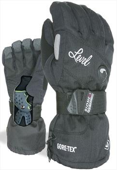 Level Half Pipe Gore-Tex Women's Snowboard/Ski Gloves, S Black