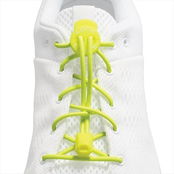 Lock Laces No-Tie Replacement Shoelaces, One Size Neon Yellow