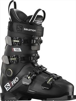 Salomon Adult Unisex S/Pro 100 Ski Boots, 28/28.5 Black/Belluga/Red 2021