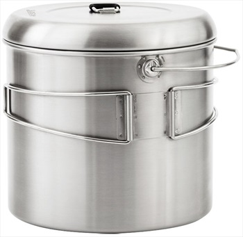 Solo Stove Pot 4000 Stainless Steel Camping Cookware, 4L Steel